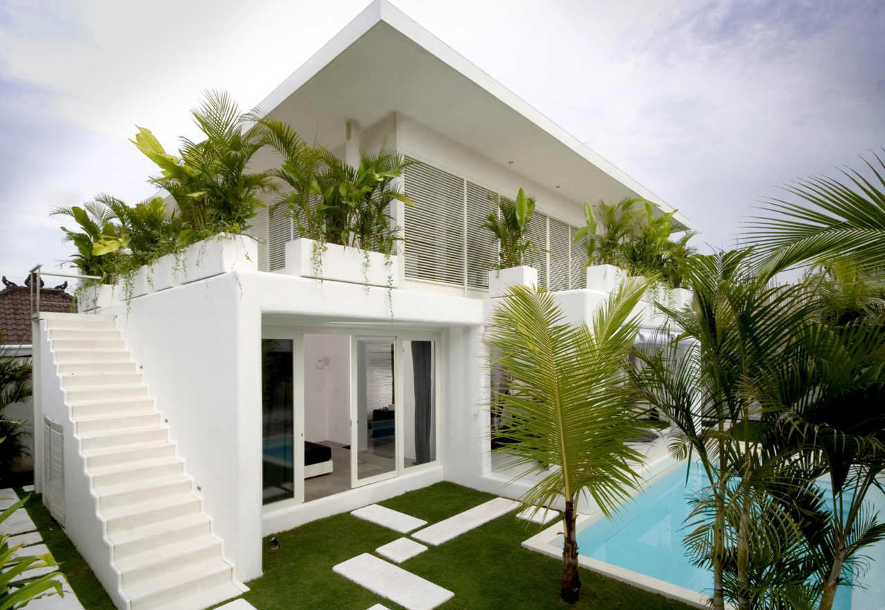 Modern tropical villa in bali the design of this modern house