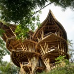 Dramatic Bamboo House In Bali