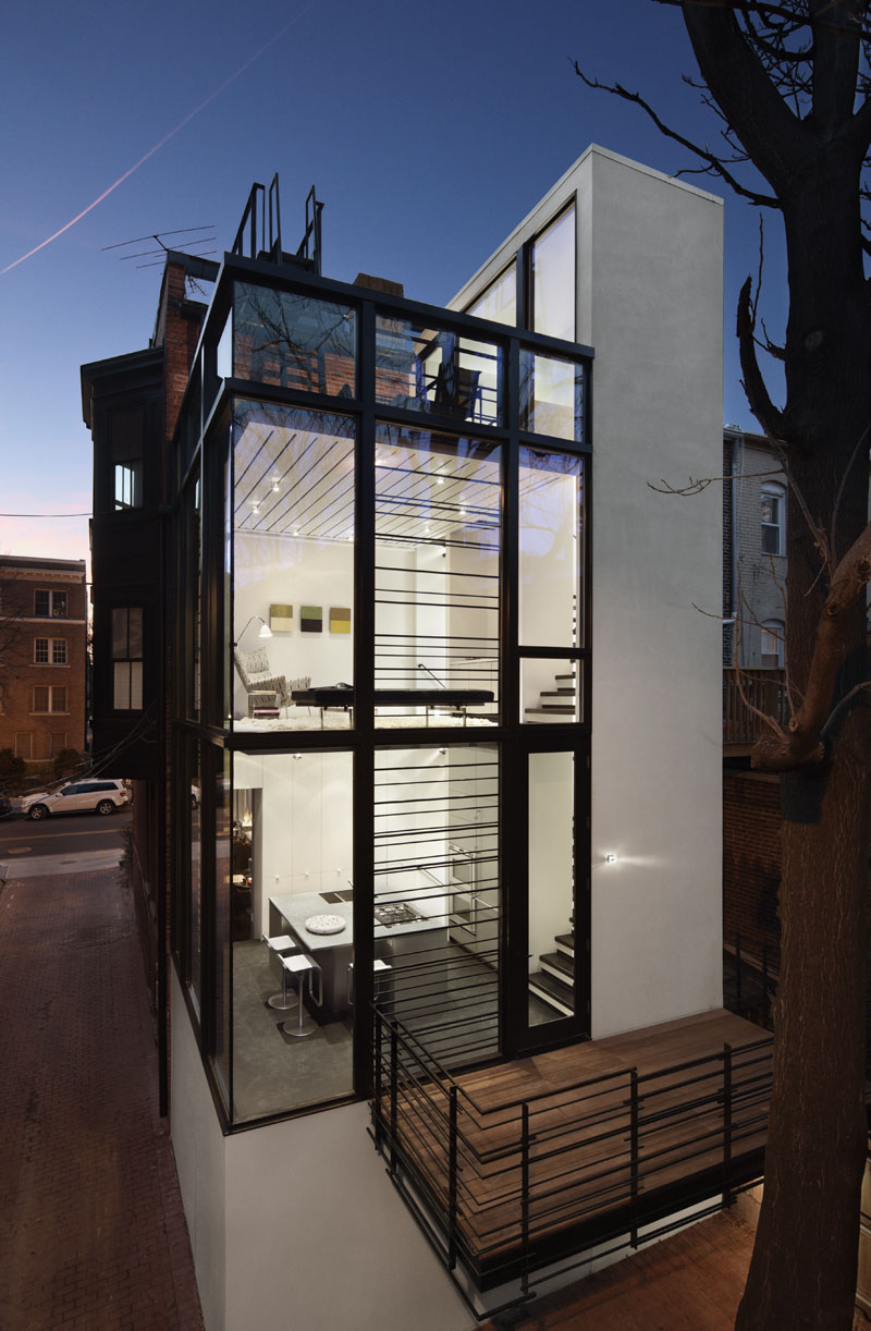 Modern washington d c row house idesignarch interior for Small space homes