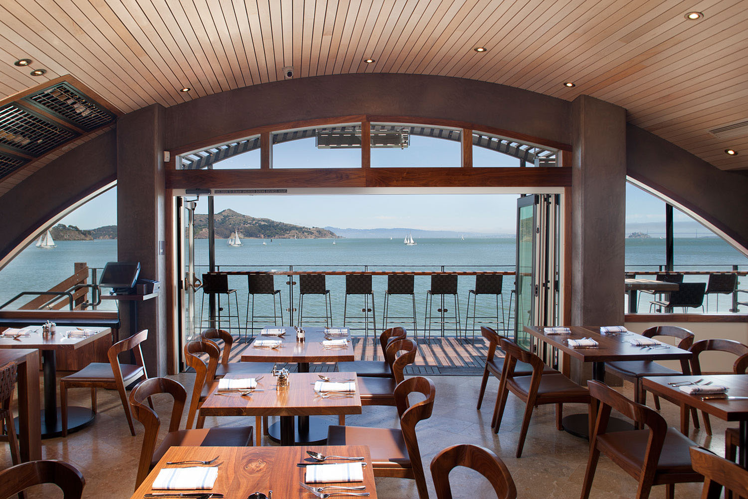 Restaurant Overlooking San Francisco Bay