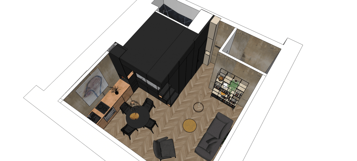 refurbished paris studio apartment integrates storage and