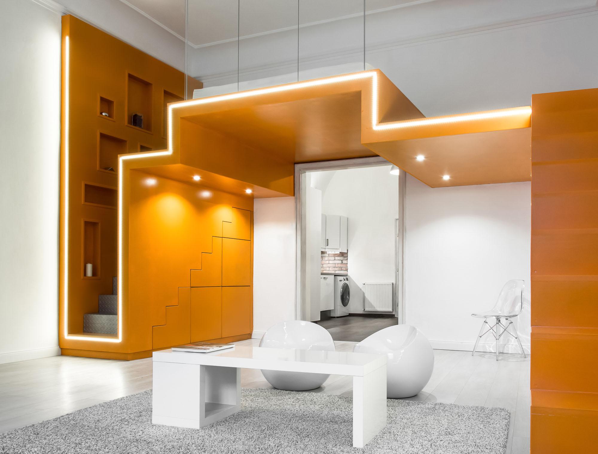 Elegant Modern Apartment with Bedroom Loft