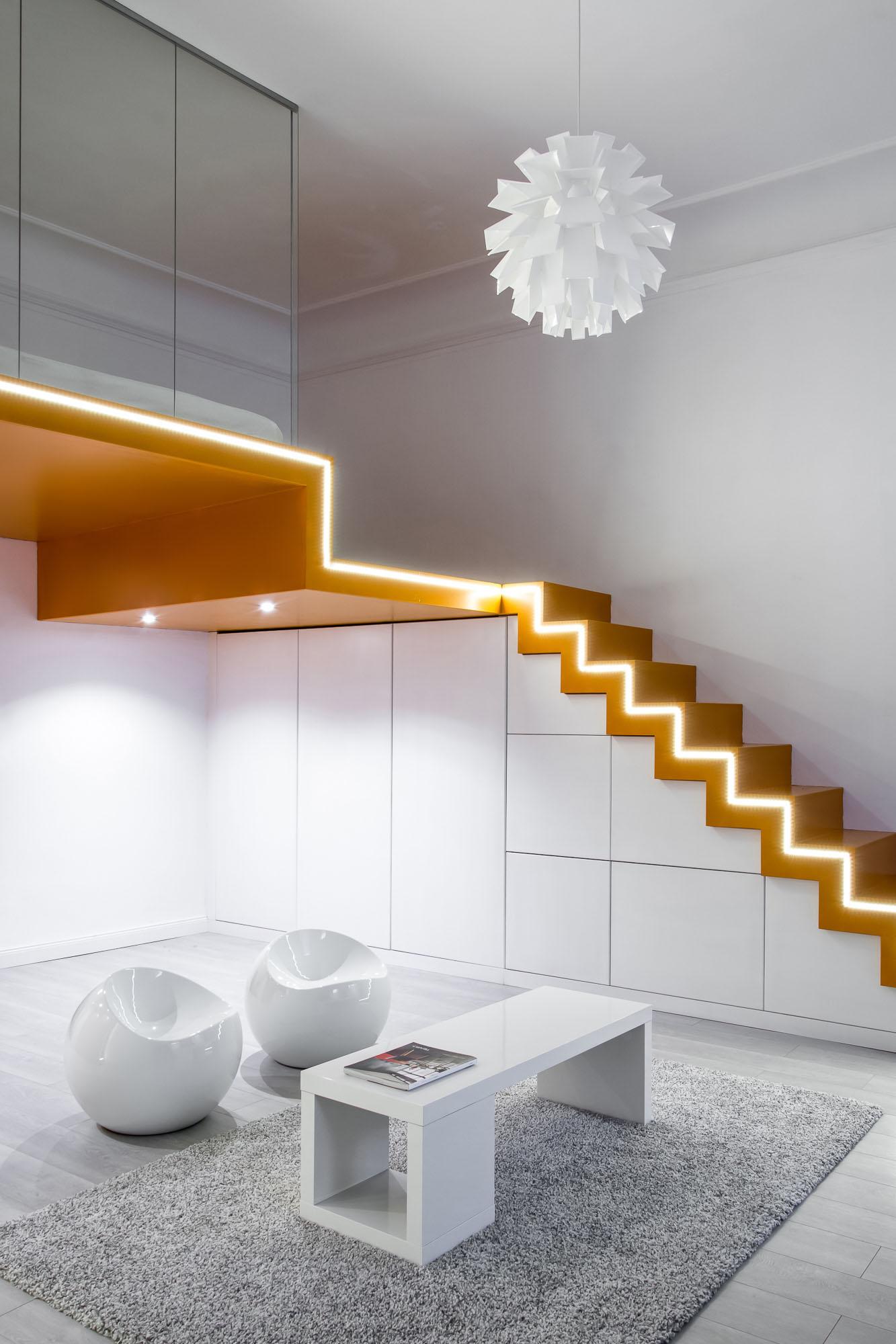 Modern Apartment Storage Under the Stairs