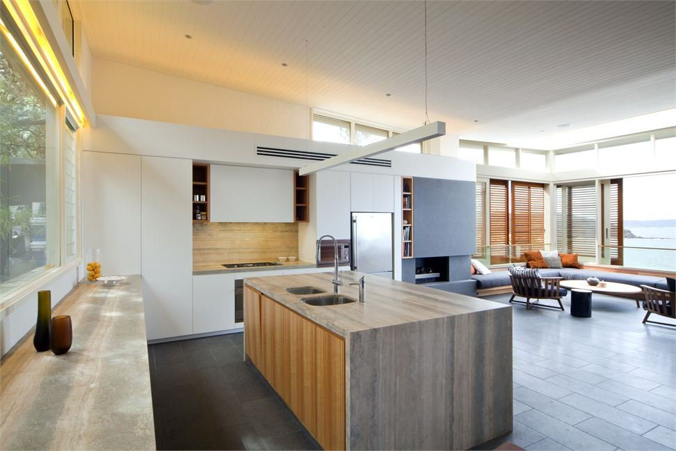 Heavenly Home Interior Beside Modern Kitchen Ideas Pict Exquisite Modern Beach House In Australia IDesignArch Interior