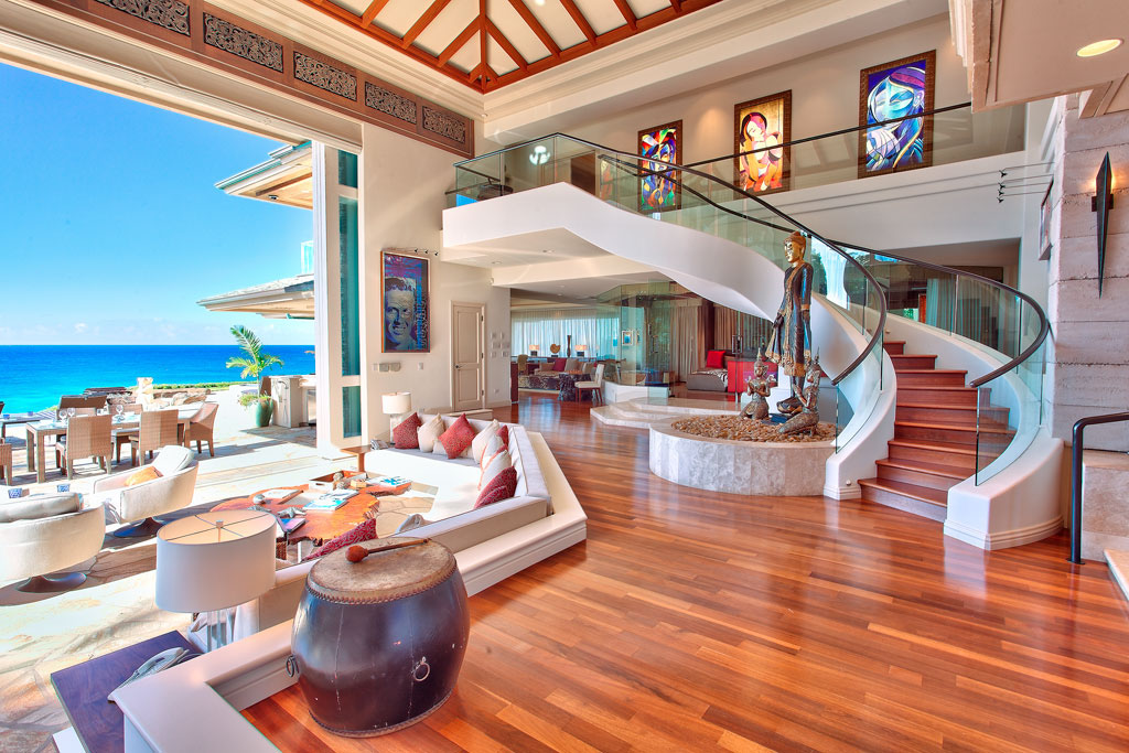 Luxury beachfront estate in maui idesignarch interior for Fancy houses inside