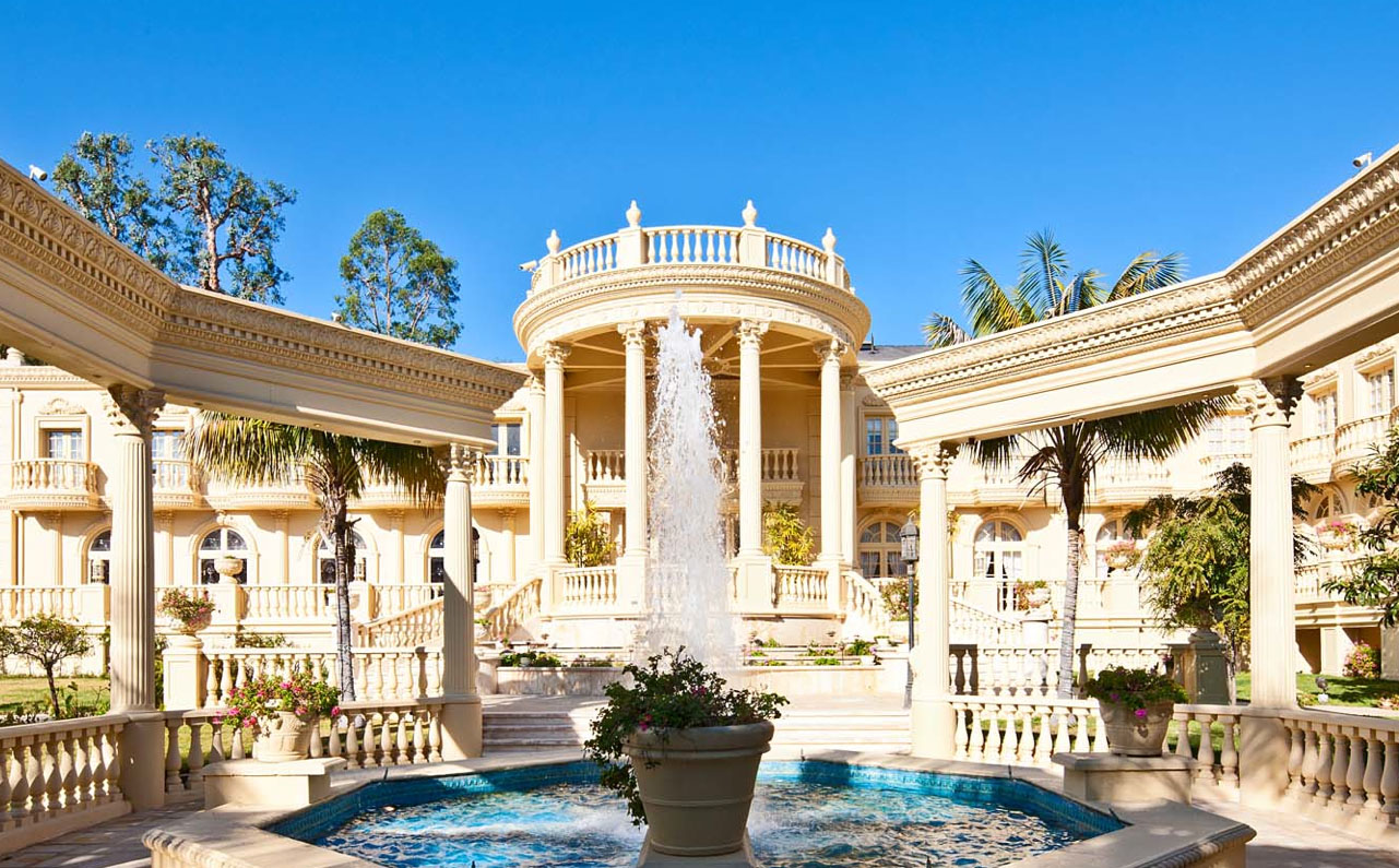 Stunning french chateau in bel air idesignarch for Palatial home designs