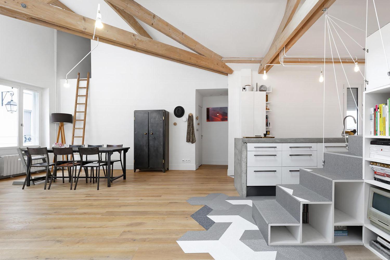 Unconventional Paris Loft Apartment With Timeless Modern