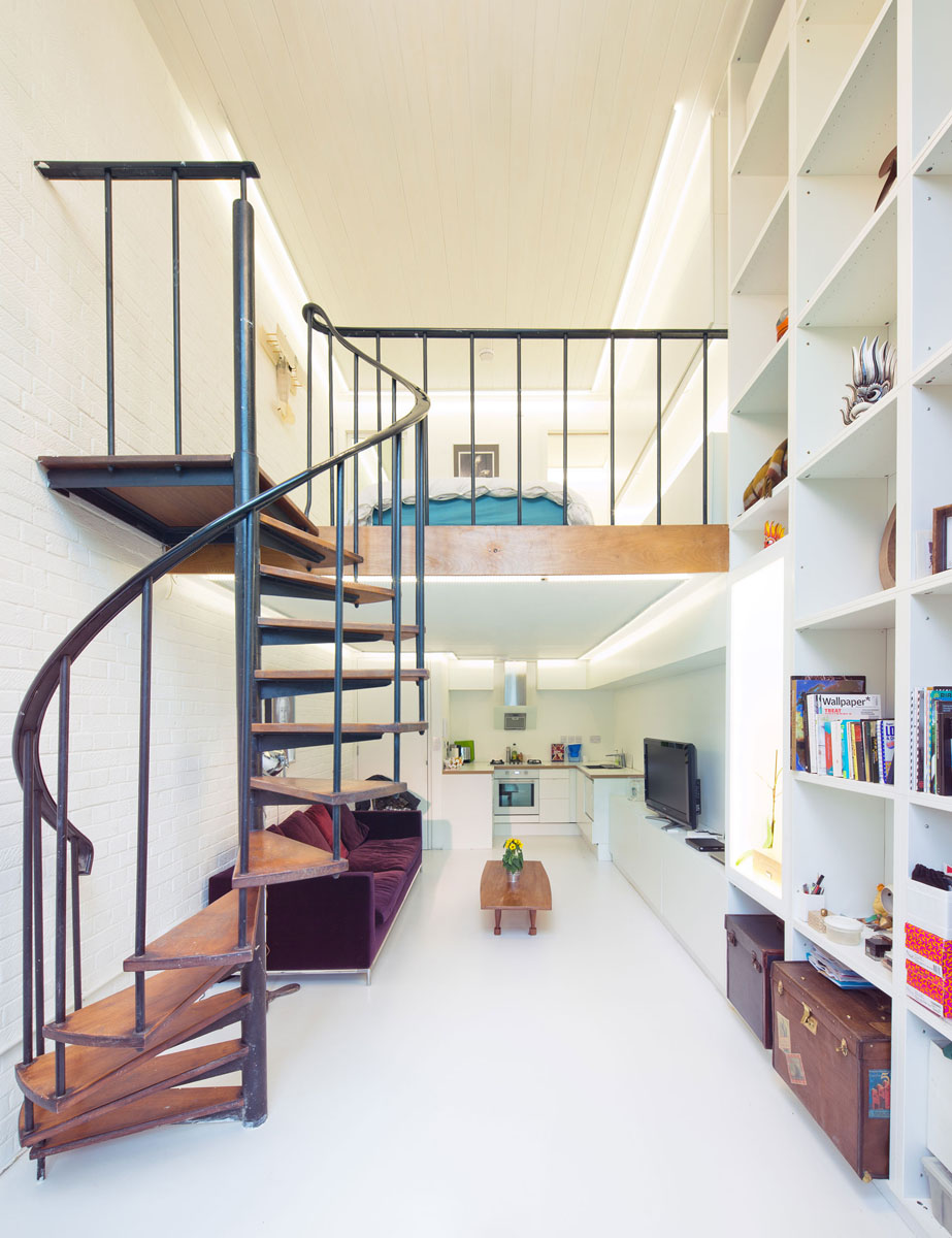 Compact Loft Apartment with Spiral Staircase | iDesignArch ...