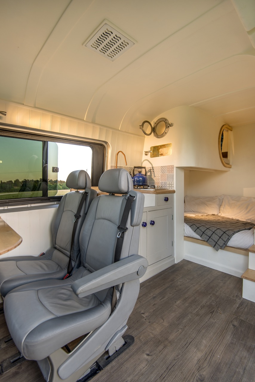Den Library Design Ideas: Custom Luxury Van Conversion Mobile Home