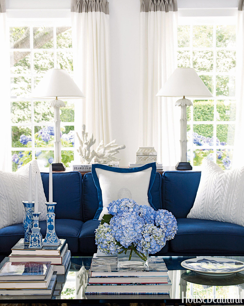 Blue And White Decor blue and white costal decor | idesignarch | interior design