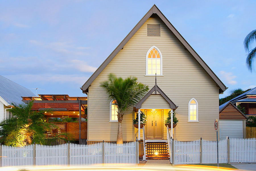 Bonney avenue church house in brisbane idesignarch for Home designs brisbane