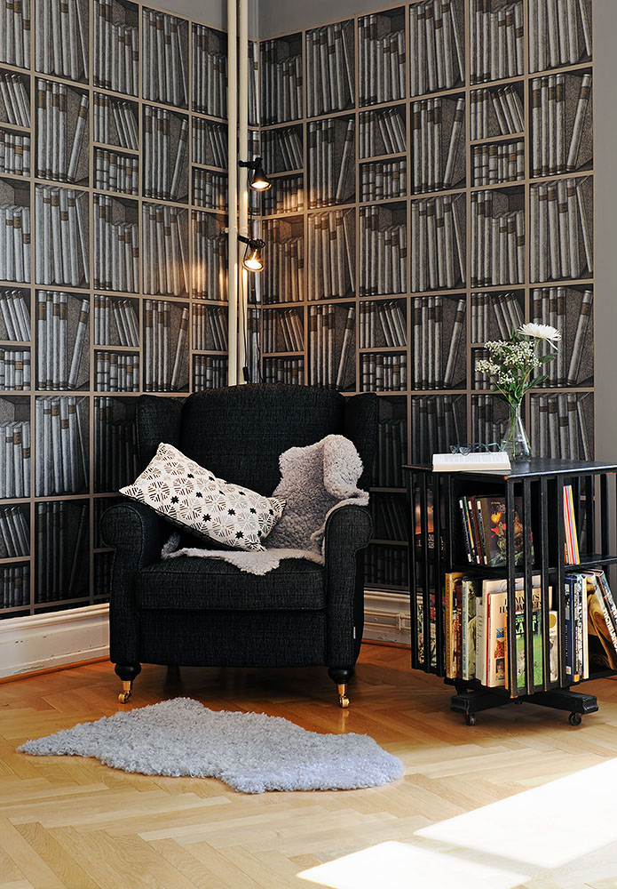Fake Bookshelf Wallpaper | iDesignArch | Interior Design ...