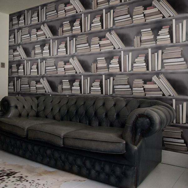 Fake Bookshelf Wallpaper Idesignarch Interior Design Architecture Amp Interior Decorating
