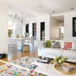 Bright Apartment Interior Design With Splashes Of Colour