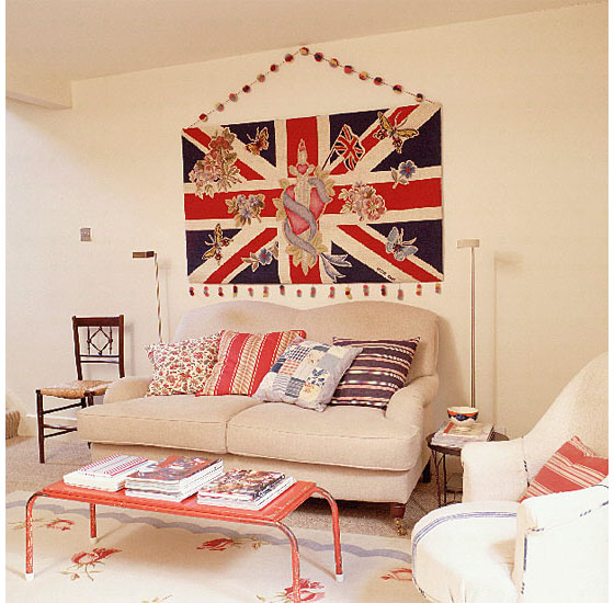 glam rock cat lady lookbook british flag home decor