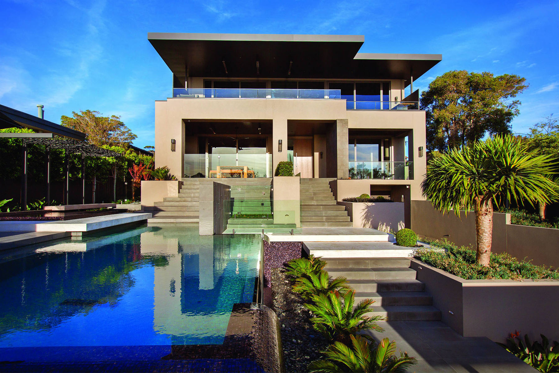 Contemporary Home In Melbourne With Resort Style Modern Landscaping Idesignarch Interior