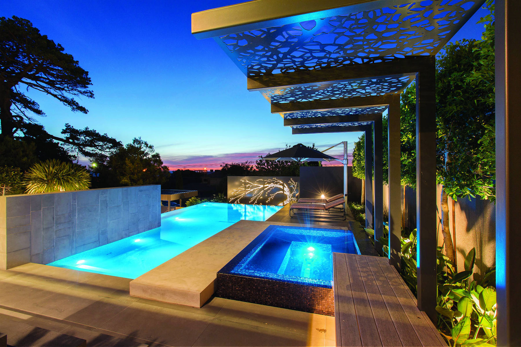 Contemporary home in melbourne with resort style modern for Pool design regrets