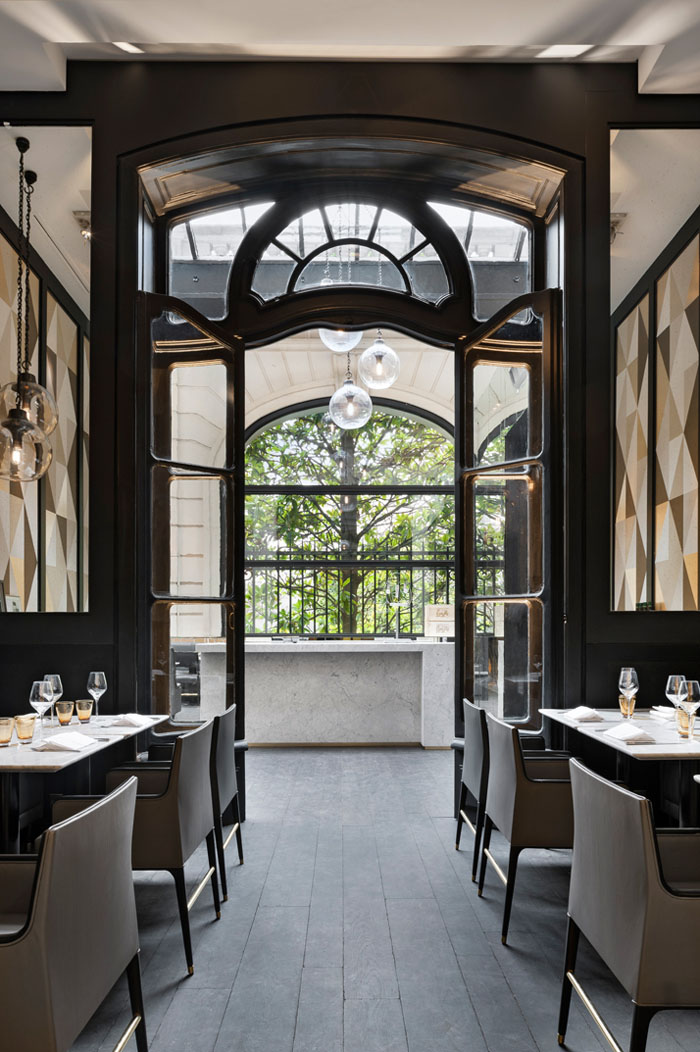 Parisian café artcurial sophisticated interiors