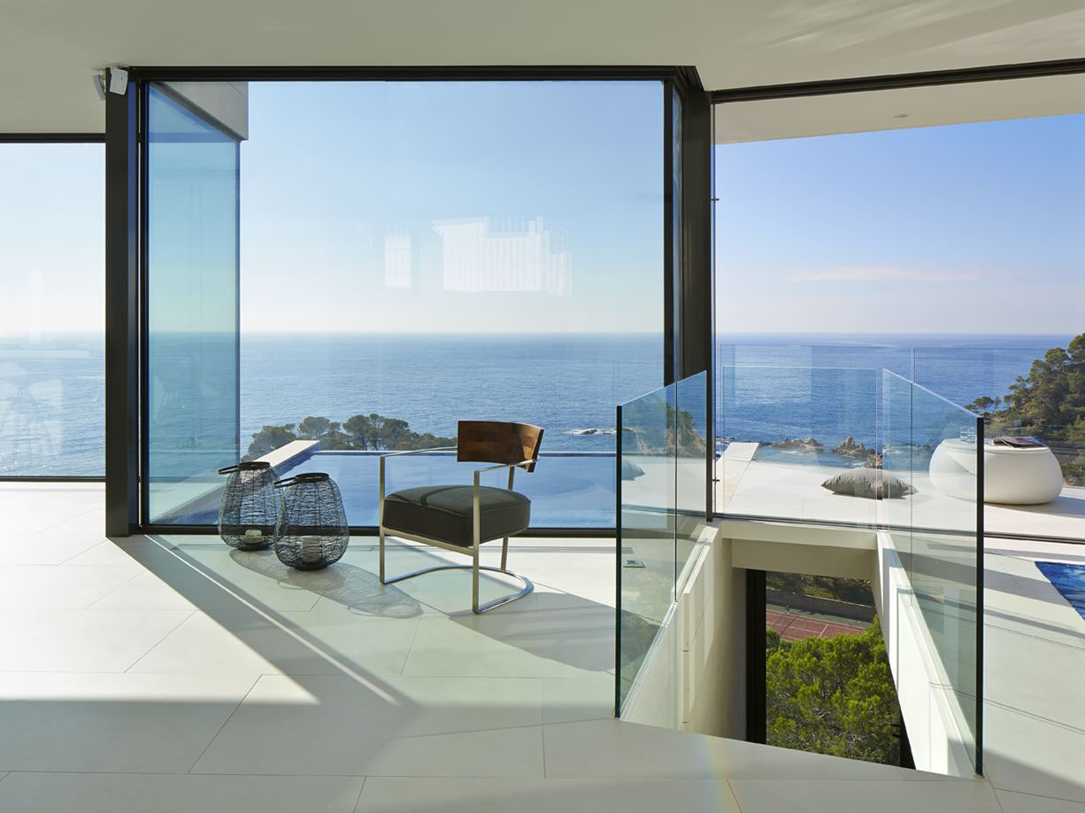 Coastal Home Design Interior modern hillside coastal home in spain with magnificent ocean view