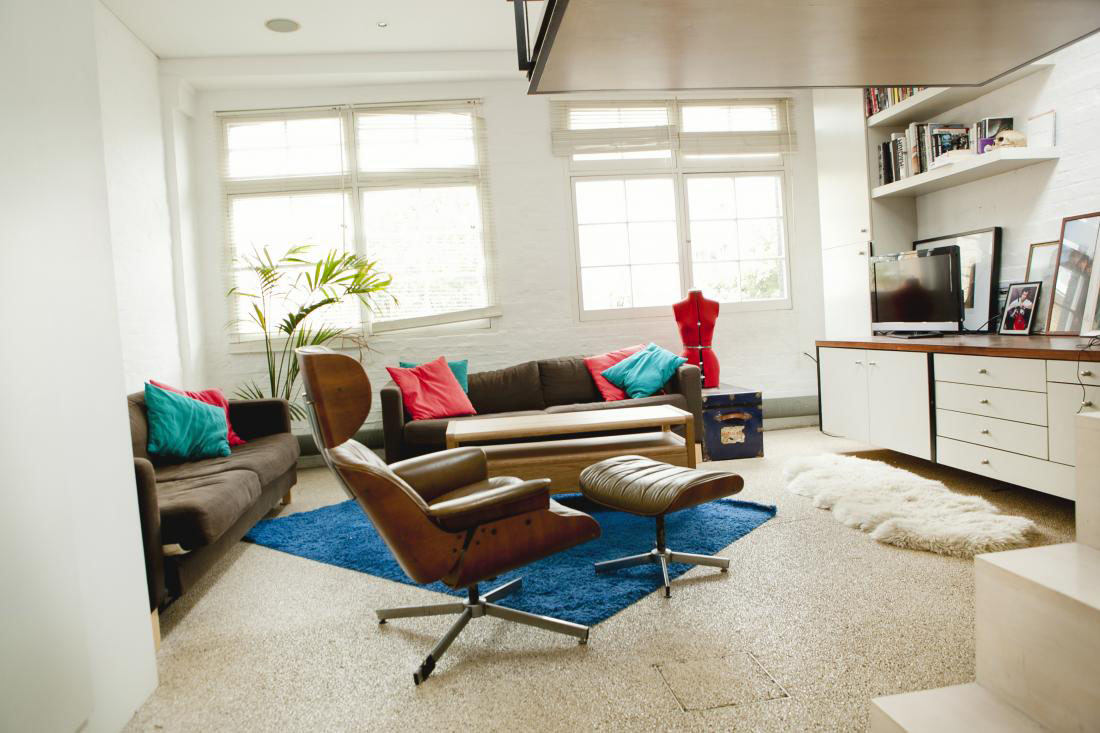 Modern Bohemian Studio Flat With Suspended Bed IDesignArch Interior Desig