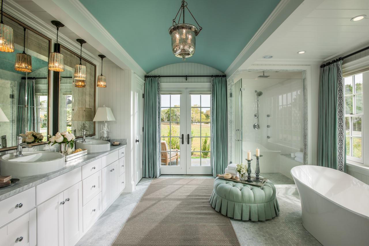 Bathroom Sets Luxury Reconditioned Bath Tub In Master Bedroom: Dream House With Cape Cod Architecture And Bright Coastal