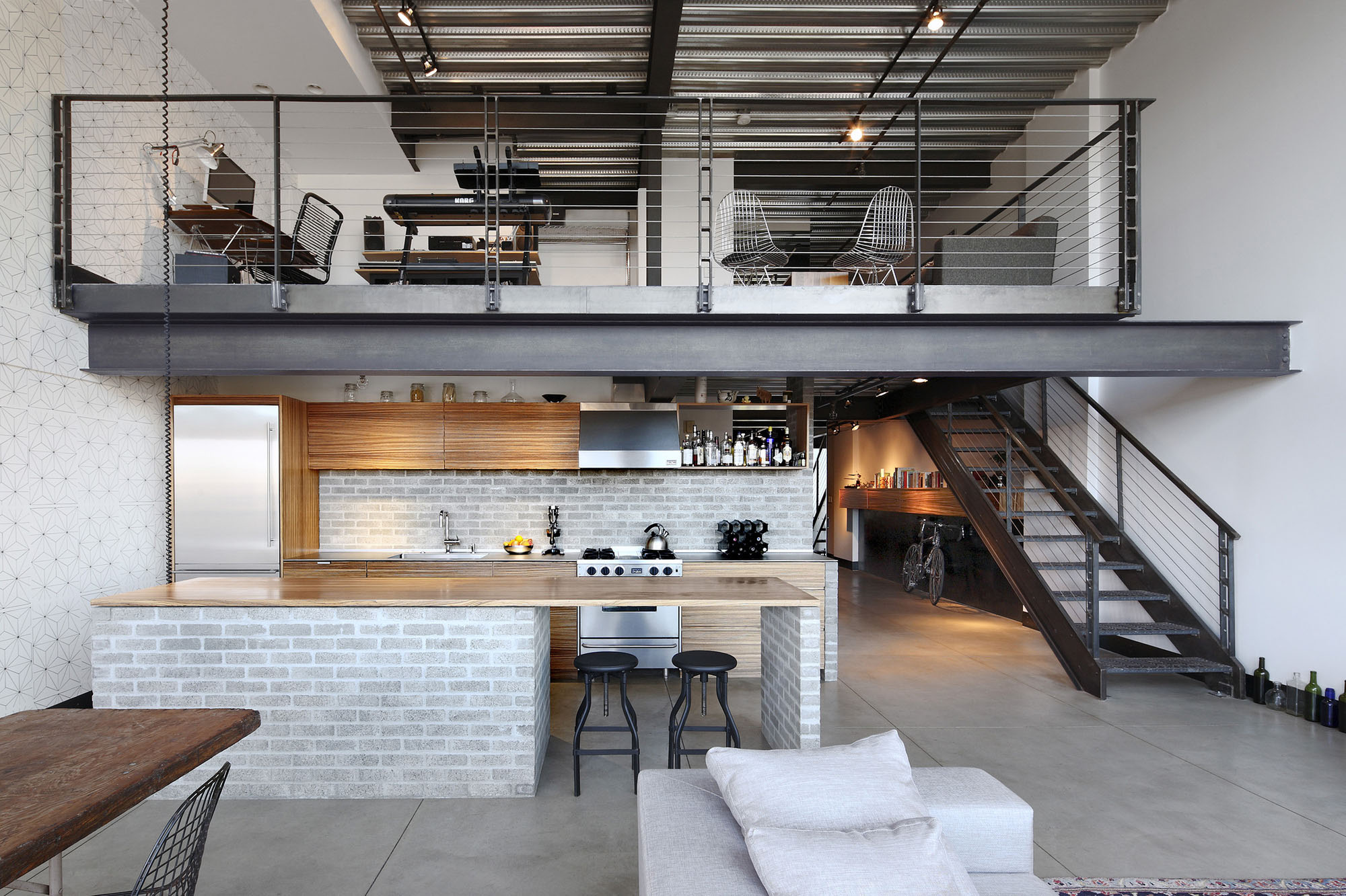 Custom Interior Design Interior custom loft-style condo in seattle with stylish industrial