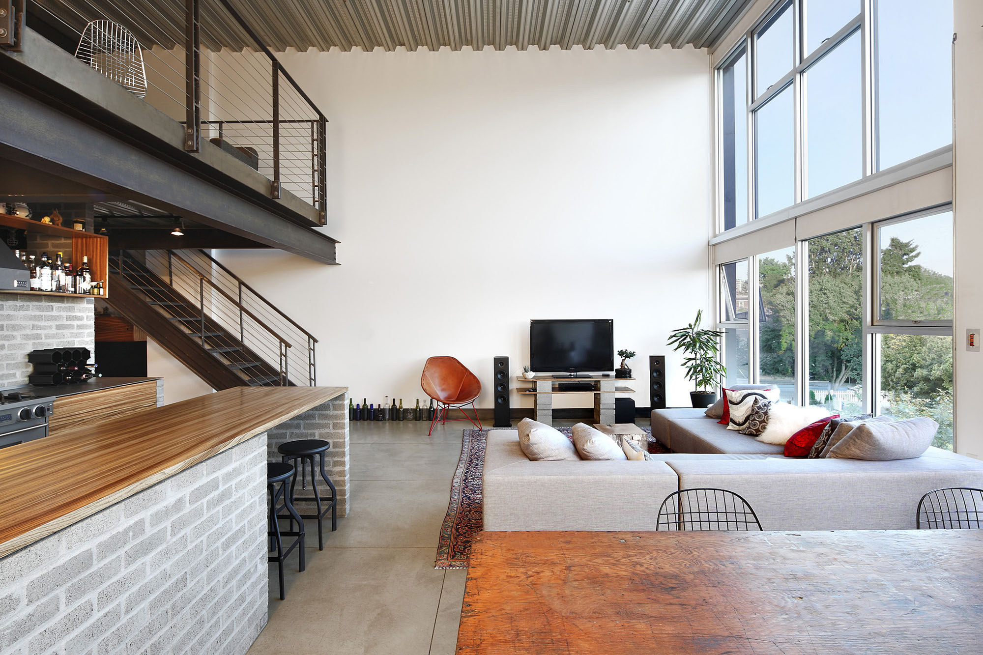 Modern Loft Stil ~ Custom loft style condo in seattle with stylish industrial