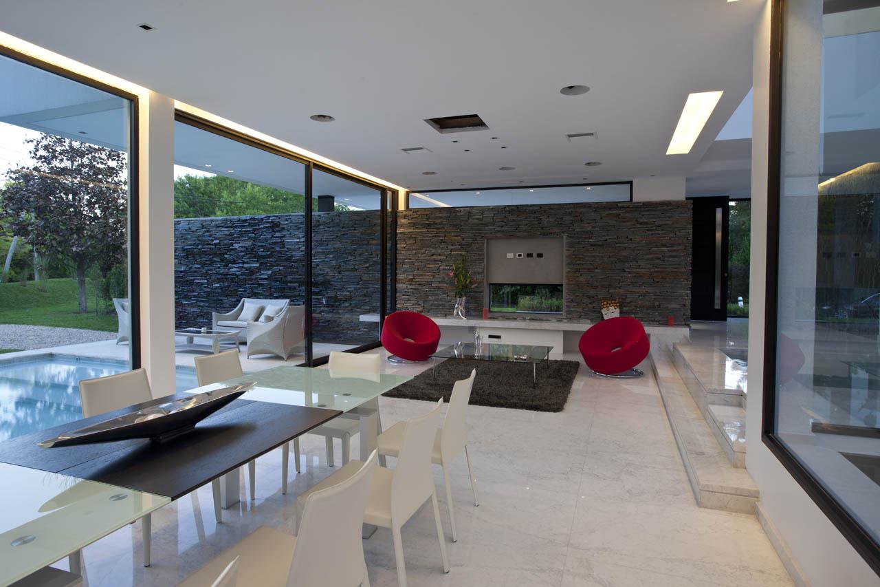 Carrara marble house in argentina idesignarch interior - Disenos de casas modernas de un piso ...