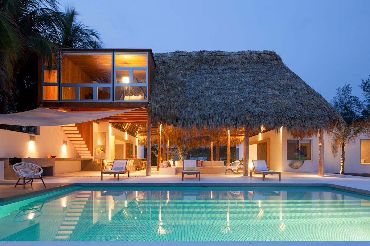 Beach Bungalow Casa Azul In San Salvador Tropical Homes  iDesignArch Interior Design Architecture