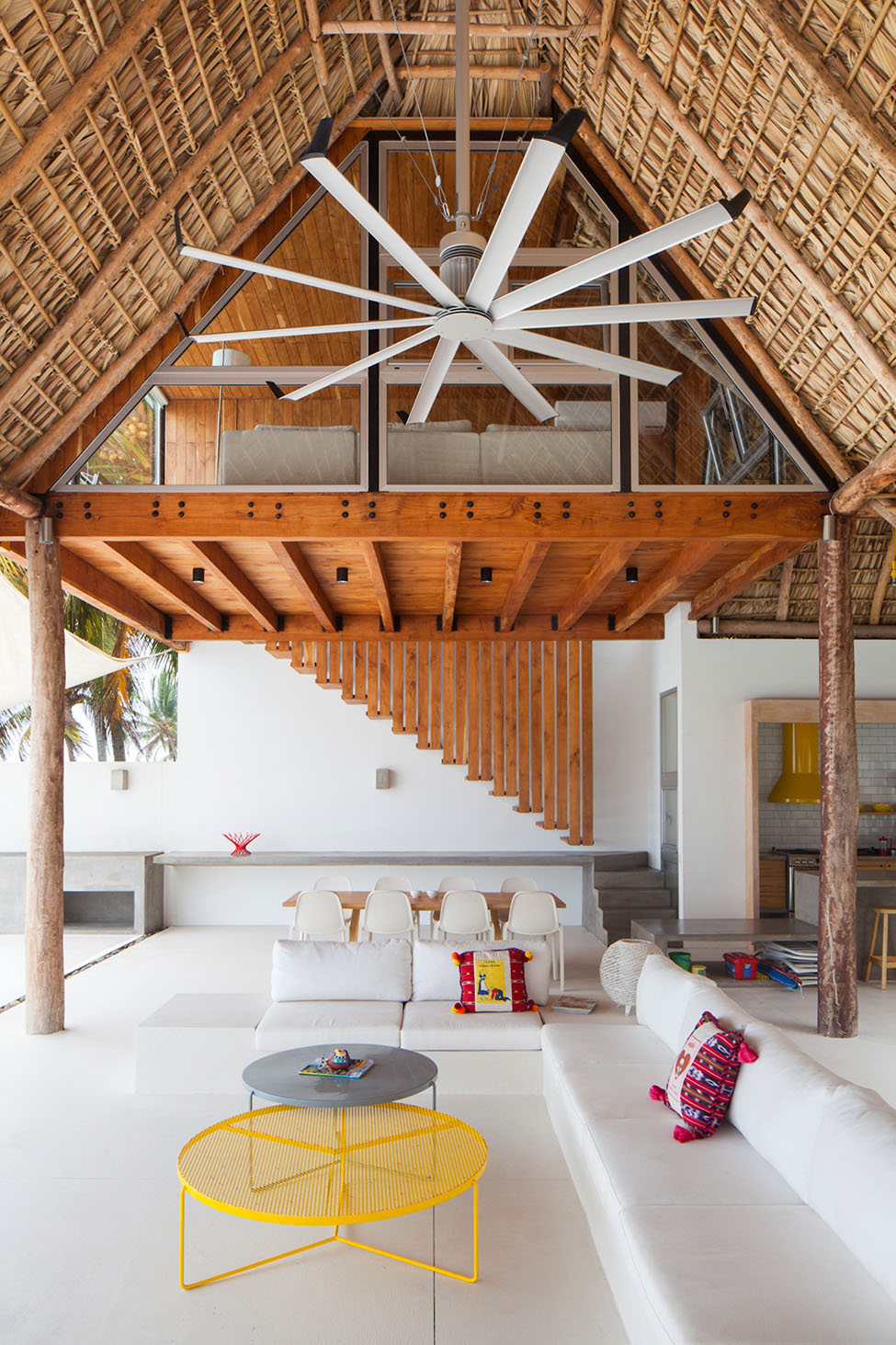 Interior Design Home Library: Beach Bungalow Casa Azul In San Salvador