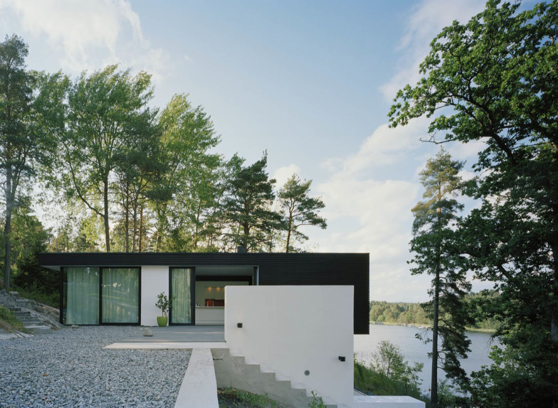 Casa barone a modern summer house idesignarch for Modern lake house designs