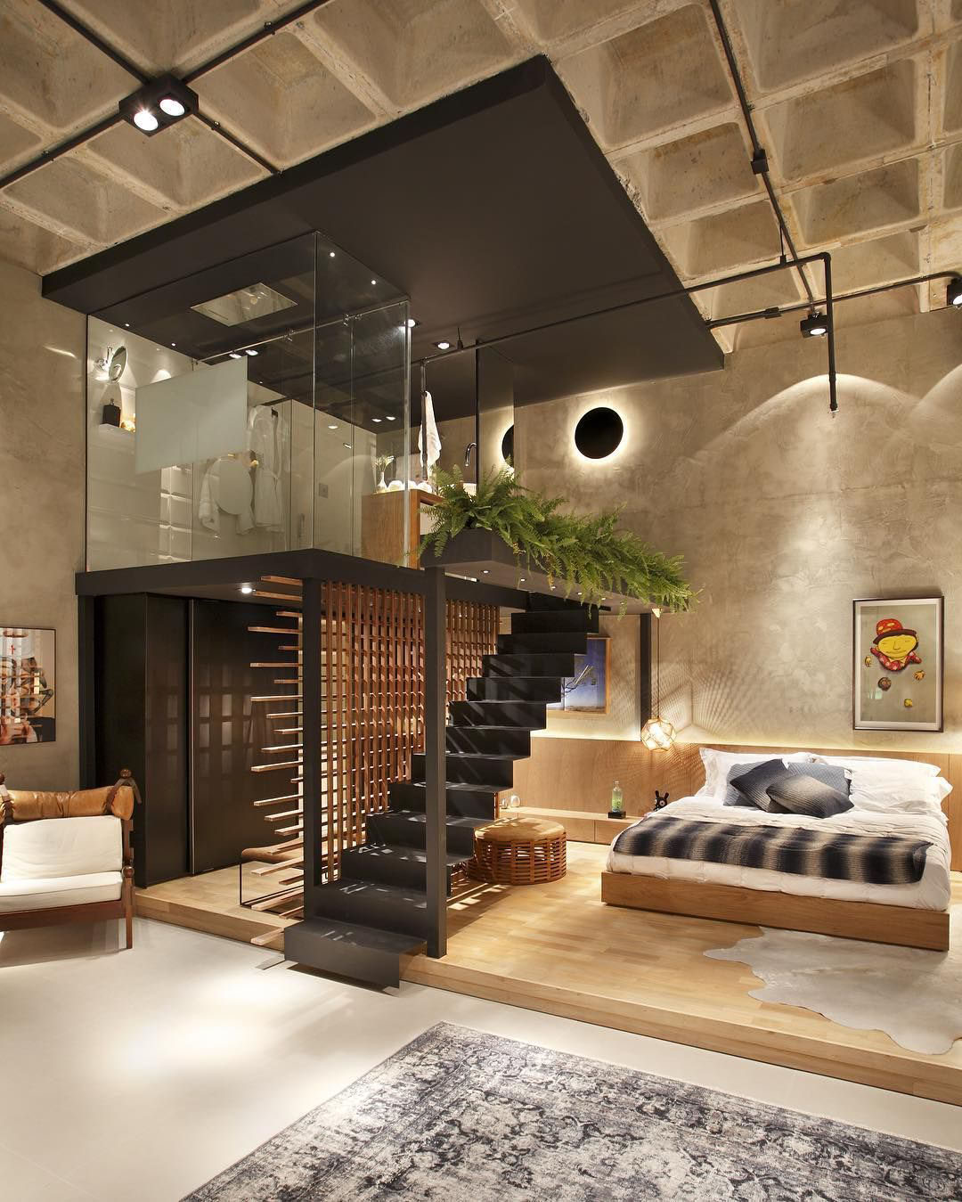 Unique Modern Loft Apartment with Elevated Glass Bathroom ...