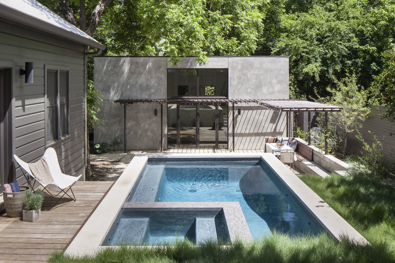 Concrete Backyard Pool