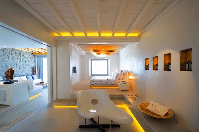 Cavo tagoo hotel mykonos a minimalist cliffside paradise for Design boutique hotel mykonos