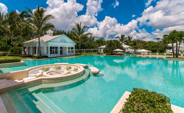Mansion With Swimming Pool celine dion's bahamian inspired luxurious florida estate