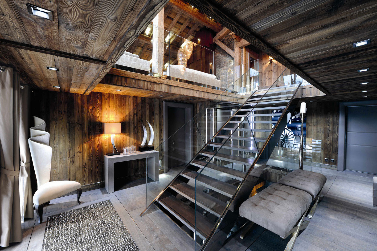 Chic modern rustic chalet in the rh ne alpes idesignarch for Rustic style interior