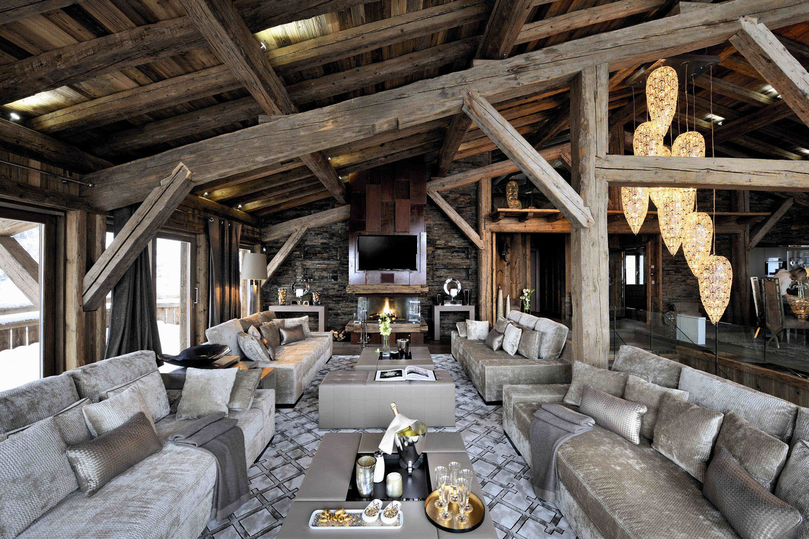 Chic modern rustic chalet in the rh ne alpes idesignarch - Interieur chalet montagne photo ...