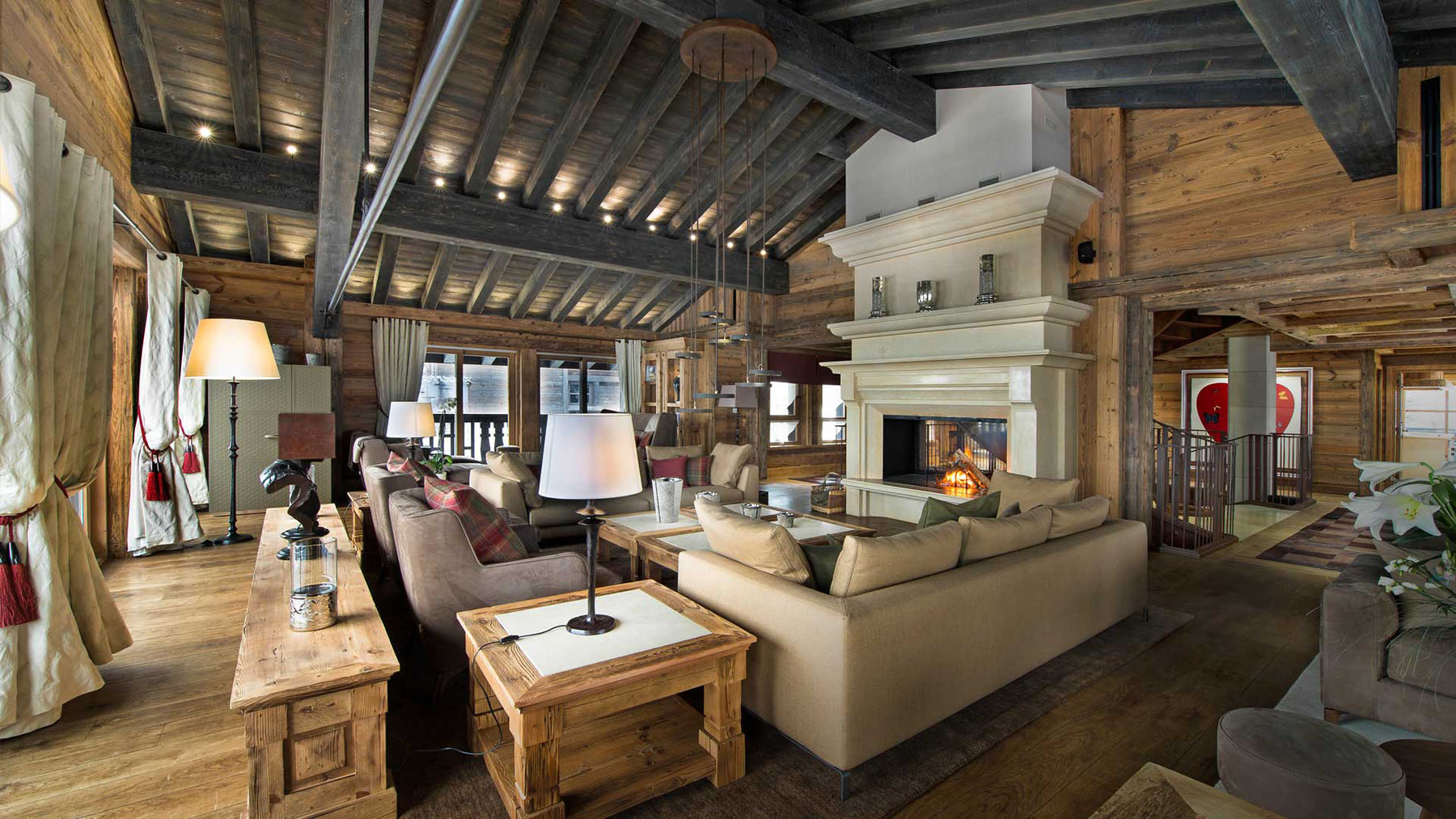 Chalet edelweiss courchevel 1 idesignarch interior for Ski chalet home designs