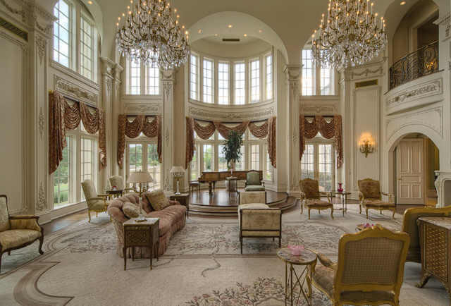 Champ d 39 or stunning estate in hickory creek idesignarch interior design architecture - Amazing private house design with luxurious swirly white staircase ...