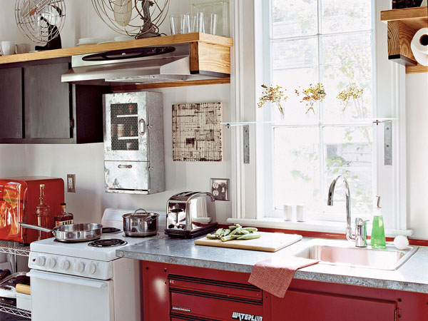 Red Retro Kitchen Style Designs  iDesignArch Interior Design