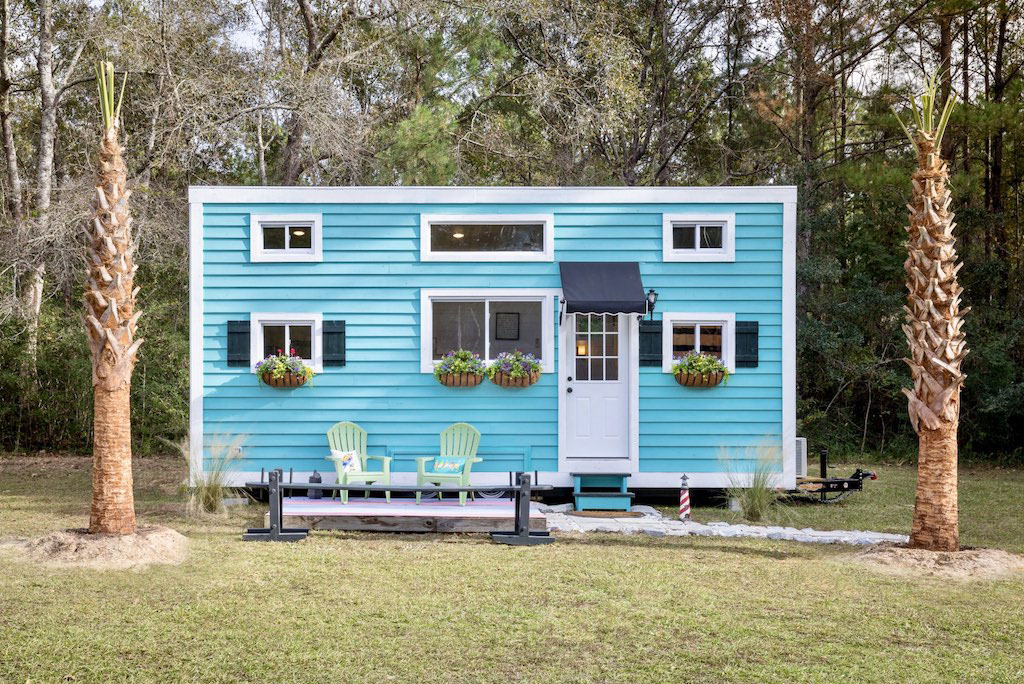 Charming Tiny Dream House with Window Flower Boxes