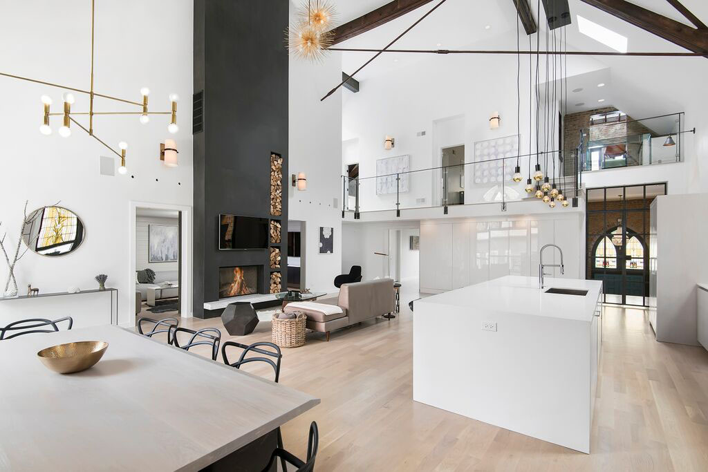 Chicago Church Converted Into An Eclectic Contemporary Home Linc Thelen Design Collaborated
