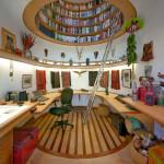 Circular Library Bookcase