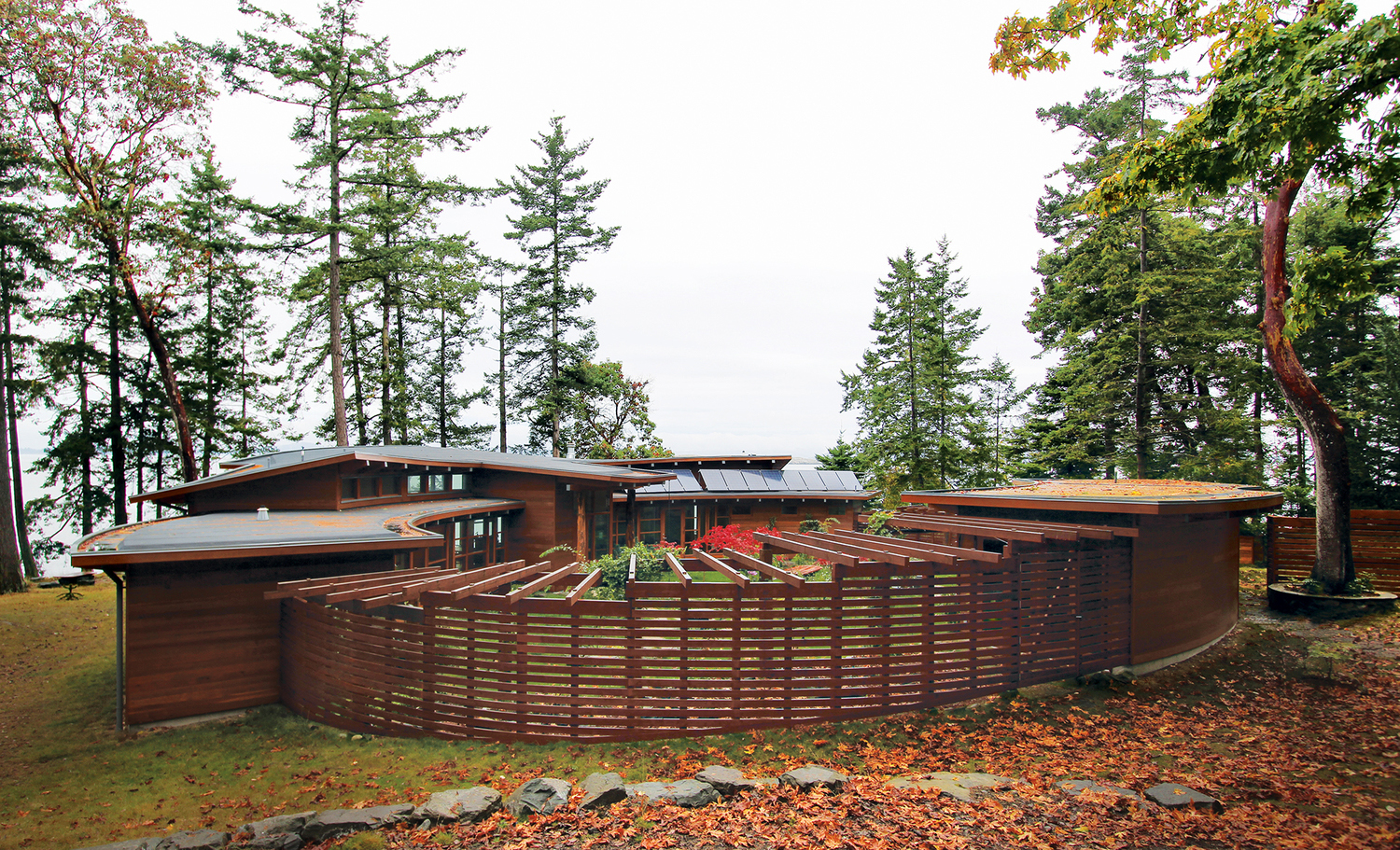 Off The Grid Circular Oceanfront House With Protected