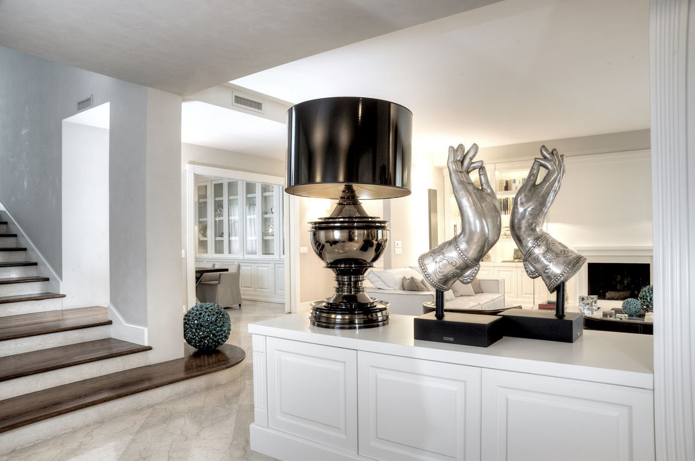 Luxury home interior with timeless contemporary elegance for Modern home accents accessories