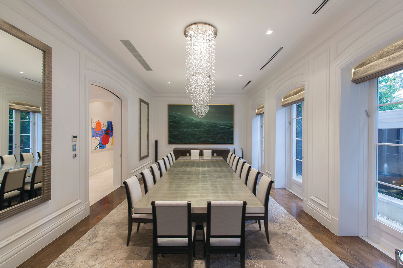 Palatial luxury mansion in melbourne with classical french for Beautiful private dining rooms melbourne