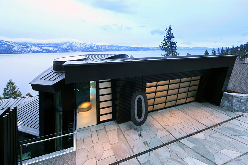 Breathtaking lake view cliff house in lake tahoe for Tahoe architects