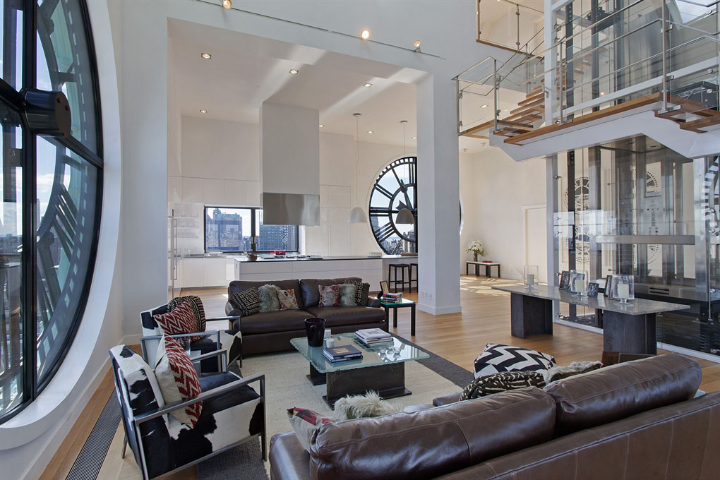 triplex penthouse atop brooklyn s clock tower idesignarch