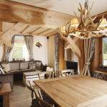 Rustic Alpine Apartment With Natural Wood Elements