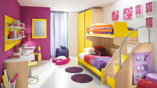 Childrens Bedrooms With Bright Cheerful Colours iDesignArch